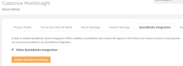 Go To The QuickBooks Integration Tab